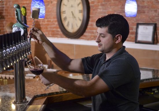 Nonno Alby's offers wine on tap